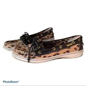COACH Richelle animal print loafers 9B